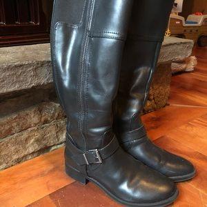 Womens black knee high boots